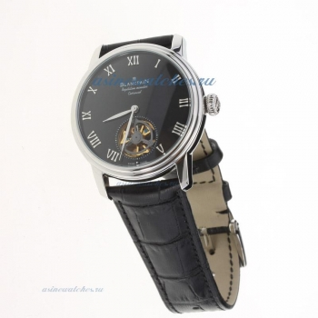 Blancpain Le Brassus Corrousel Reprtition Mimutes Tourbillon Automatic with Black Dial-Leather Strap