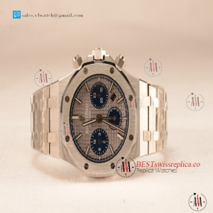 Audemars Piguet Royal Oak Chrono 316L Solid Steel White Blue SubDial 7750 Automatic 26331OR.OO.1220OR.01