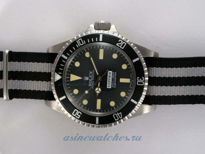 Cheap Rolex Submariner Comex Automatic with Black Dial and Bezel-Nylon Strap Vintage Edition on sale