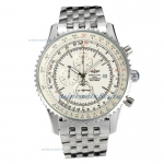 Cheap replica Breitling Navitimer World Working Chronograph With White Dial
