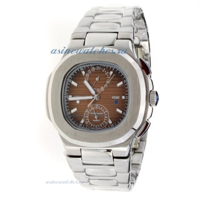 Replica Patek Philippe Nautilus with Brown Dial S/S-1 online