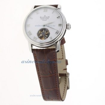 Blancpain Le Brassus Corrousel Reprtition Mimutes Tourbillon Automatic with White Dial-Leather Strap