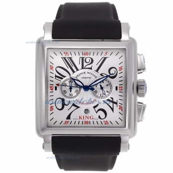 Cheap designer Frank Muller Cortez Conquistador Working Chronograph with White Dial