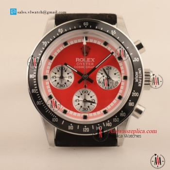 Cheap Rolex Daytona Vintage Edition Chronograph OS20 Quartz Steel Case with Red Dial For Sale