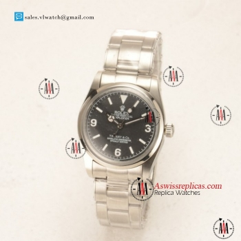 Rolex Explorer Tiffany & Co. Steel Case with Steel Bezel Black Dial For Sale