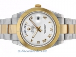 Cheap replica Rolex Day-Date II Automatic Two Tone Roman Markers with White Dial-1 online