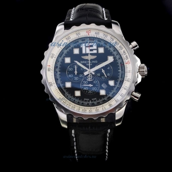 Cheap replica Breitling Chronospace Working Chronograph with Black Dial-Leather Strap online sale