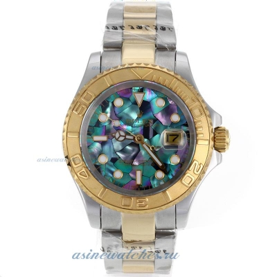 Cheap replica Rolex Yachtmaster Automatic Two Tone with Puzzle Style MOP Dial sale in this store!