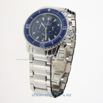 Blancpain Fifty Fathoms Working Chronograph White Markers with Blue Dial S/S on sale