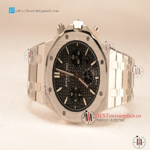 Audemars Piguet Royal Oak Chrono 316L Solid Steel Black Clone AP3126 Automatic 26331OR.OO.1220OR.01