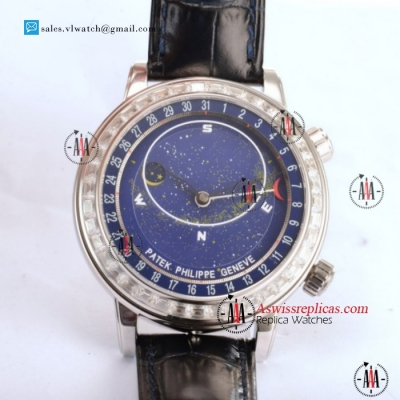 Patek Philippe Grand Complication Sky Moon Celestial 9015 Auto Steel Case With Blue Dial For Sale