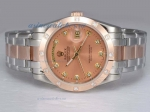 Cheap replica Rolex Masterpiece Automatic Two Tone with Diamond Marking-Champagne Dial online
