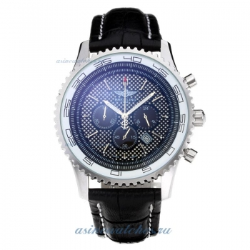 Cheap replica Breitling Chronospace Working Chronograph with White Dial Leather Strap online sale