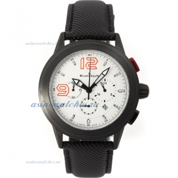 Blancpain Lamborghini Super Trofeo Working Chronograph PVD Case with White Dial Nylon Strap on sale