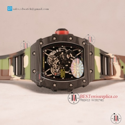 1:1 Richard Mille RM35-01 Japanese Miyota 9015 Auto Carbon Fiber Case With Skeleton Dial For Sale - (KV) [201812143817]