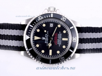 Top quality Rolex Sea Dweller Submariner 2000 Ref.1665 Automatic with Black Dial and Bezel-Nylon Str