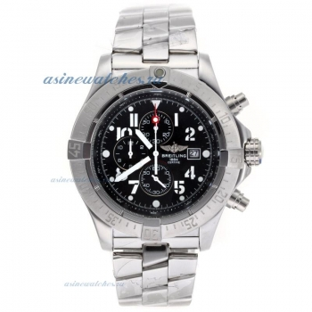 Cheap replica Breitling Skyland Avenger Working Chronograph with Black Dial S/S online sale