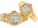 Cheap replica Rolex Yacht-Master Swiss ETA 2836 Movement Full Gold with MOP Dial sale in this store!