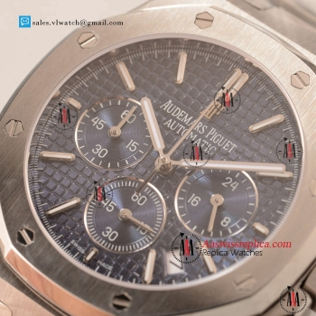 Cheap Audemars Piguet Royal Oak Chronograph Miyota OS20 Quartz Steel Case with Blue Dial For Sale
