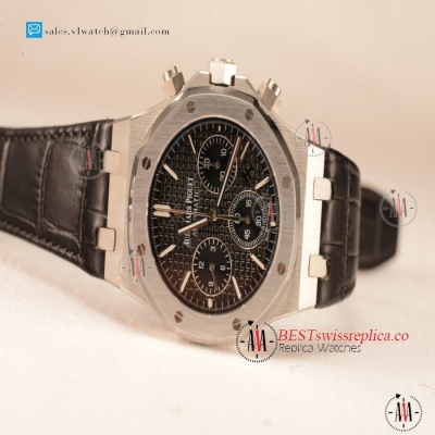 Audemars Piguet Royal Oak Chronograph Black Dial With Black Strap Swiss Valjoux 7750 26331ST.OO.1220ST.01