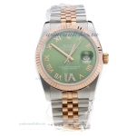 Rolex Datejust Swiss ETA 2836 Movement Two Tone with Green Dial-1 online for sale