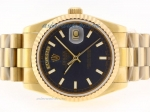 Discount Rolex Day-Date Swiss ETA 2836 Movement Full Gold with Blue Dial Stick Marking