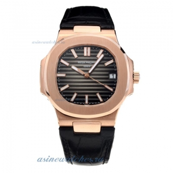 Patek Philippe Aquanaut Automatic Rose Gold Case with Gray Dial-Sapphire Glass