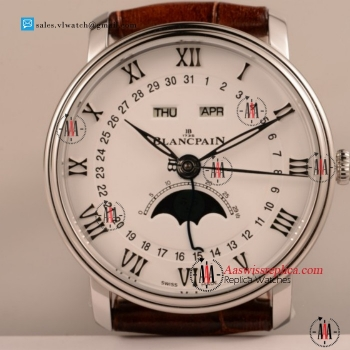 Cheap BlancPain Villeret 9015 Auto Steel Case with Steel Bezel For Sale - (AAAF)