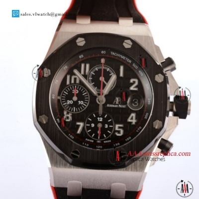 1:1 Audemars Piguet Royal Oak Offshore Chronograph Clone AP Calibre 3126 Auto Steel Case With Black Dial For Sale - (JF)