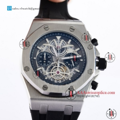 Audemars Piguet Royal Oak Offshore Tourbillon Chronograph Miyota Quartz Steel Case With White Dial For Sale