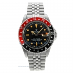 Cheap replica Rolex GMT-Master Swiss ETA 2836 Movement with Black Dial Orange Markers-Vintage Editio