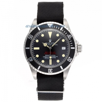 Top quality Rolex Sea Dweller Submariner 2000 Ref.1665 Automatic Vintage Edition-Black Nylon Strap f