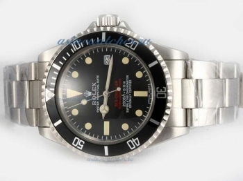 Top quality Rolex Sea Dweller Swiss ETA 2836 Movement with Black Dial(Double Red Marking)-Vintage Ed