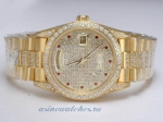 Discount Rolex Day-Date Automatic Full Gold with Diamond Bezel and Dial 3