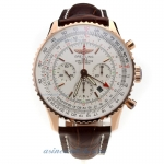 Cheap replica Breitling Navitimer Working GMT Chronograph Asia 7750 Movement Rose Gold Case with Whi