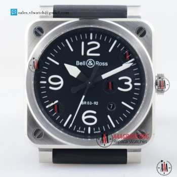 Cheap Bell&Ross BR 03-92 9015 Auto Steel Case with Black Dial For Sale