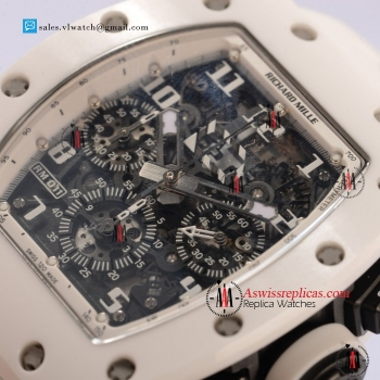 1:1 Richard Mille RM 011 Chrongraph Ceramic Case 7750 Auto with Skeleton Dial For Sale (KV)