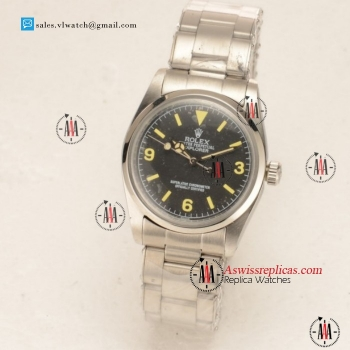 Rolex Explorer Steel Case with Black Dial Steel Bezel For Sale