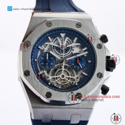 Audemars Piguet Royal Oak Offshore Tourbillon Chronograph Miyota Quartz Steel Case With Blue Dial For Sale