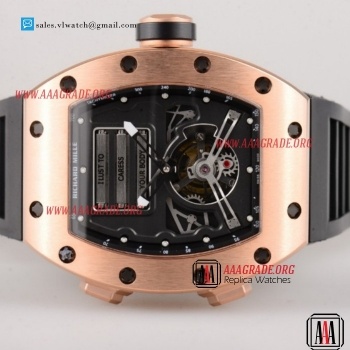Cheap Richard Mille RM 69 Erotic Tourbillon Miyota 9015 Rose Gold Case with Skeleton Dial For Sale