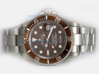 Cheap Rolex Submariner Harley Davidson Automatic with Brown Dial and Bezel on sale