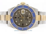 Cheap Rolex Submariner Automatic 18K Two Tone Plated with Gray Dial Blue Ceramic Bezel on sale