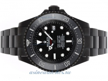 Top quality Rolex Sea Dweller Pro Hunter Deep Sea Swiss Cal 3135 Movement with Black PVD Case-Jacque