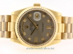 Discount Rolex Day-Date Swiss ETA 2836 Movement Full Gold Diamond Marking with Gray Dial