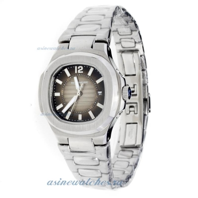 Replica Patek Philippe Nautilus with Dark Gray Dial S/S-Lady Size online