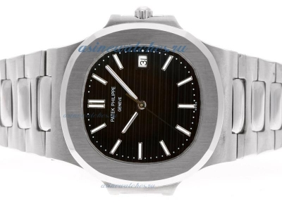 Replica Patek Philippe Nautilus Swiss ETA 2836 Movement with Black Dial S/S-2 online