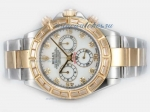 Discount Rolex Daytona Chronograph Swiss Valjoux 7750 Movement Two Tone With Baguette CZ Diamond Bez