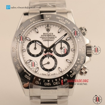 1:1 Cheap Rolex Daytona 7750 Auto Chronograph Steel Case with White Dial For Sale - 1:1 (AR)