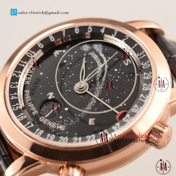 Patek Philippe Grand Complication 9015 Auto Rose Gold Case with Rose Gold Bezel For Sale