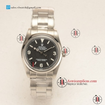 Rolex Explorer Steel Case with Steel Bezel Black Dial For Sale
